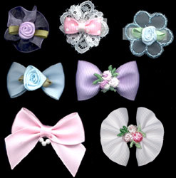 seven piece baby bow collection