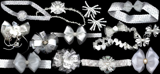 Collection of Christening Hair Bows