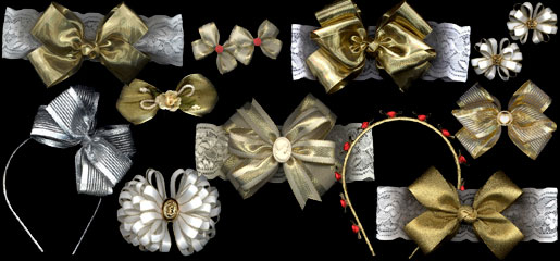 Metallic Hair Bows